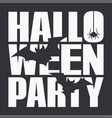 halloween party night poster on black background vector image vector image