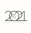 happy new year 2021 celebration background vector image vector image