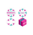 happy womans day template set vector image