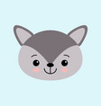image of cute little wolf in cartoon style vector image