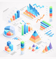 infographics isometric elements vector image vector image