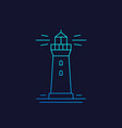 lighthouse linear icon on dark vector image vector image