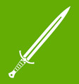 long sword icon green vector image vector image