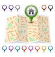 map icon Map markers vector image vector image