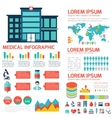 Medical Flat Infographic Background vector image