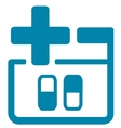 medical icon with pills vector image