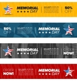memorial day banner set vector image vector image