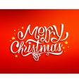 Merry Christmas greetings card with lettering vector image vector image