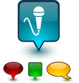 Mic speech comic icons vector image vector image