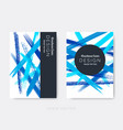 modern abstract brochure cover design vector image
