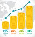 Money infographic design vector image