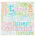 Mother Nature Loves an Oakland Garden text vector image vector image
