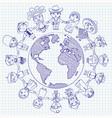 nationalities funny cartoon character vector image vector image