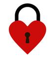 padlock heart shape heart lock vector image vector image