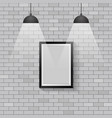 picture frame with ceiling lights vector image vector image