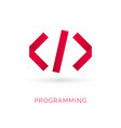 programming code icon abstract code icon logo vector image