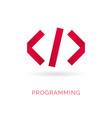 programming code icon abstract code icon logo vector image vector image