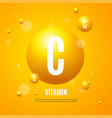 realistic detailed 3d sphere yellow vitamin c vector image vector image