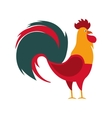 rooster year isolated icon vector image vector image