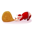 Santa pulls the bag concept vector image vector image