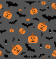 seamless halloween pattern on vector image vector image