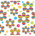 seamless pattern with colored flowers made of vector image vector image