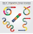 Set of infographics design templates vector image vector image
