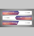 simple geometric banners 02 vector image vector image