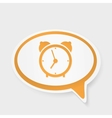 speech bubble watch vector image