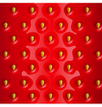 strawberry realistic background vector image vector image
