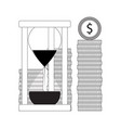 time and money line concept vector image