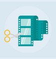 video editing flat icon vector image vector image