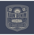 Vintage denim typography t-shirt graphics vector image vector image