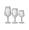 wine glasses sketch vector image vector image