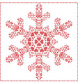 Winter pattern in snowflake shape vector image vector image