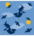Witches and bats Halloween background vector image