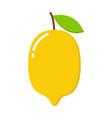 yellow lemon icon isolated on vector image vector image