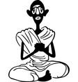 Yogi vector image vector image