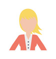 woman faceless avatar vector image
