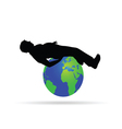 man on the globe vector image