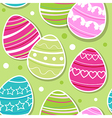 Abstract Easter seamless pattern with eggs vector image vector image