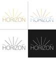 Abstract horizon logo template vector image
