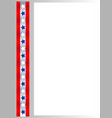 american flag symbols stars ribbon border vector image vector image