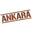 Ankara brown square stamp vector image vector image