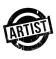 artist rubber stamp vector image vector image