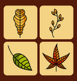 autumn season set icons natural design vector image