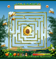 bees and beehive maze game vector image