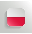 Button - Poland Flag Icon vector image