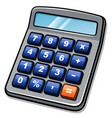 calculator cartoon isolated drawing vector image vector image
