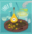 canola oil used for cooking vector image vector image